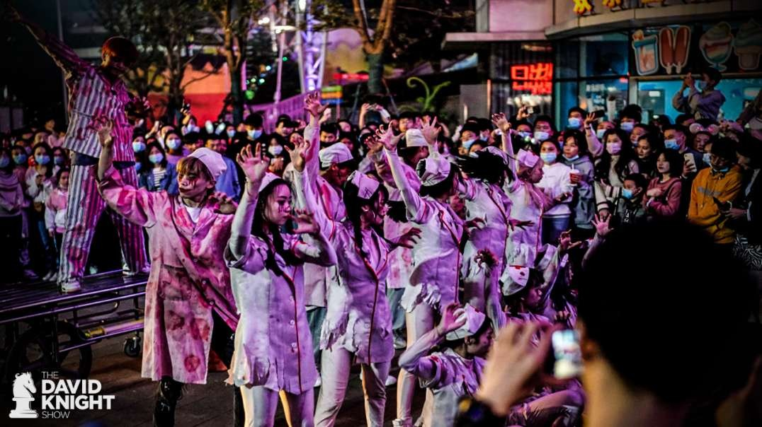 "Wuhan Mocks USA with Halloween Party of ""Zombie Nurses"""