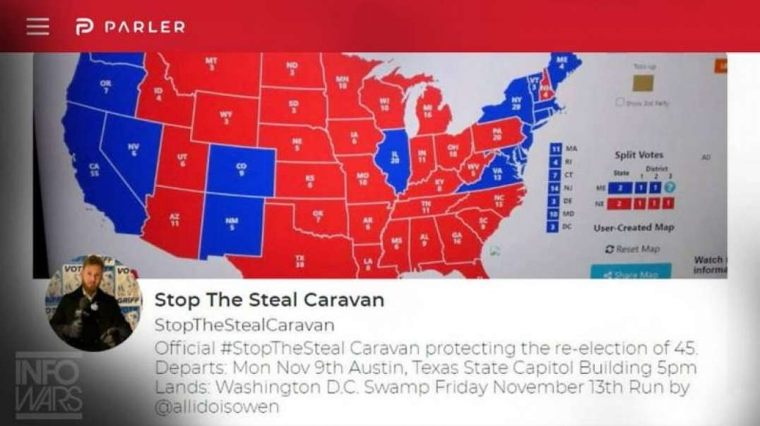 Pro-Trump Caravan Leaves Texas for D.C. - Stop The Steal