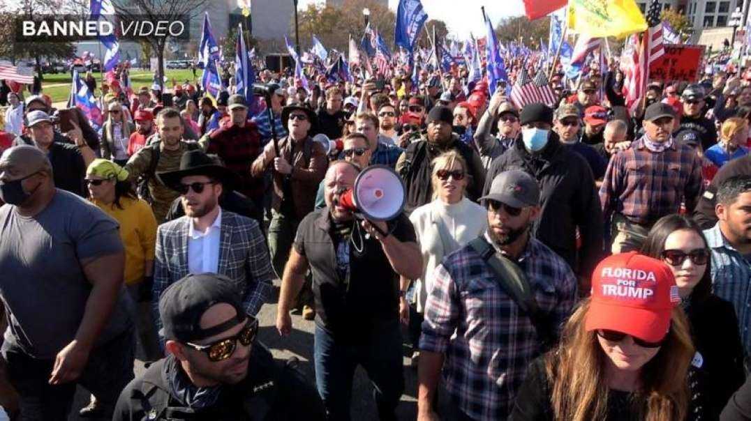 Infowars' Alex Jones Leads The Million MAGA March From Freedom Plaza To The Supreme Court