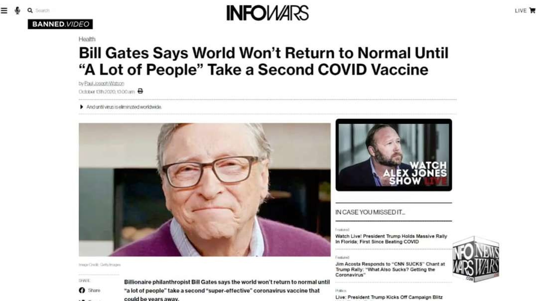 Alex Jones Warned You The Lockdowns Would Never End!