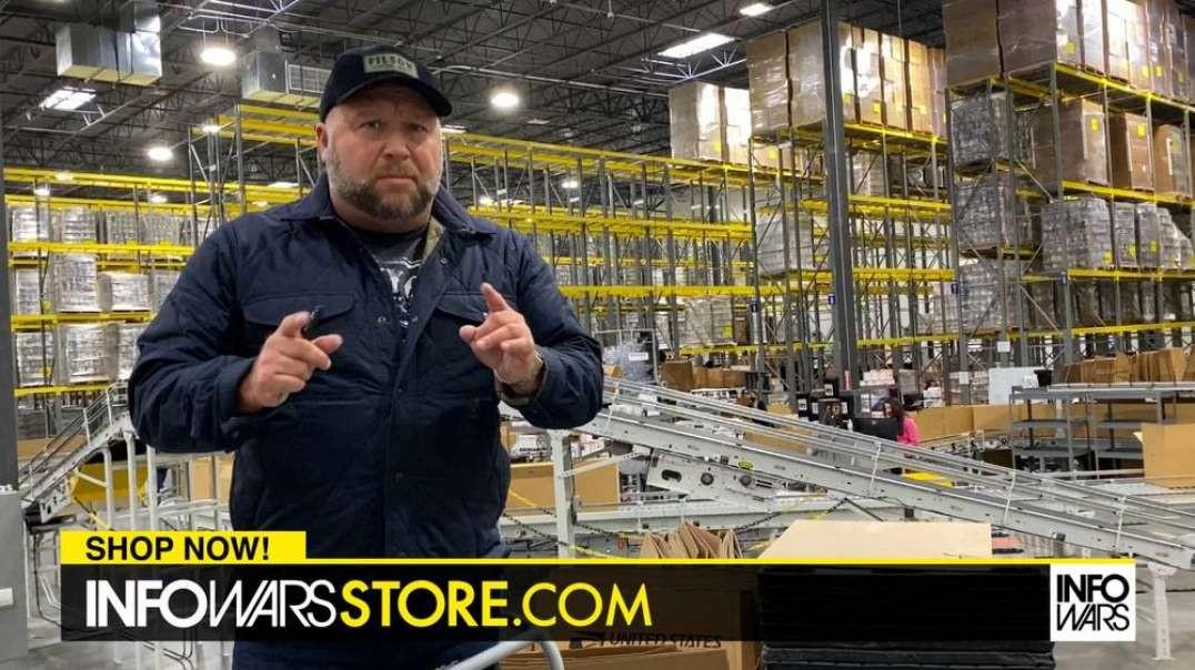 Alex Jones Tours My Patriot Supply Factory Headquarters