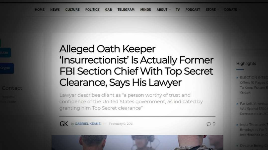 Top Clearance FBI Agent Investigated For Role On January 6th