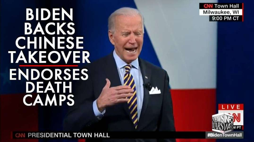 ⁣Joe Biden Openly Backs Chinese Takeover, Endorses Death Camps