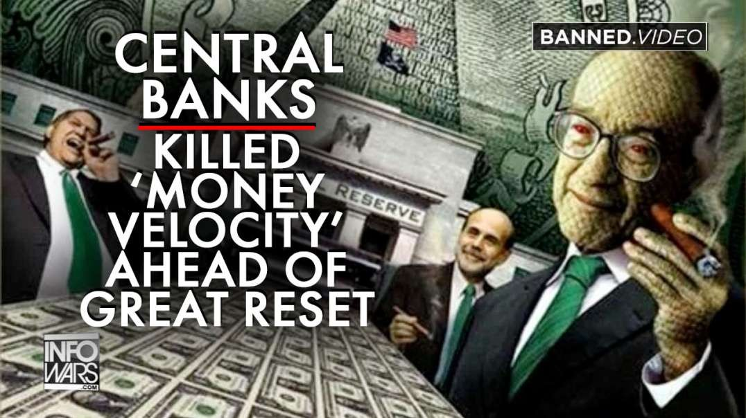 Central Banks Shut Down Global Economy to Kill 'Money Velocity' Ahead of Great Reset