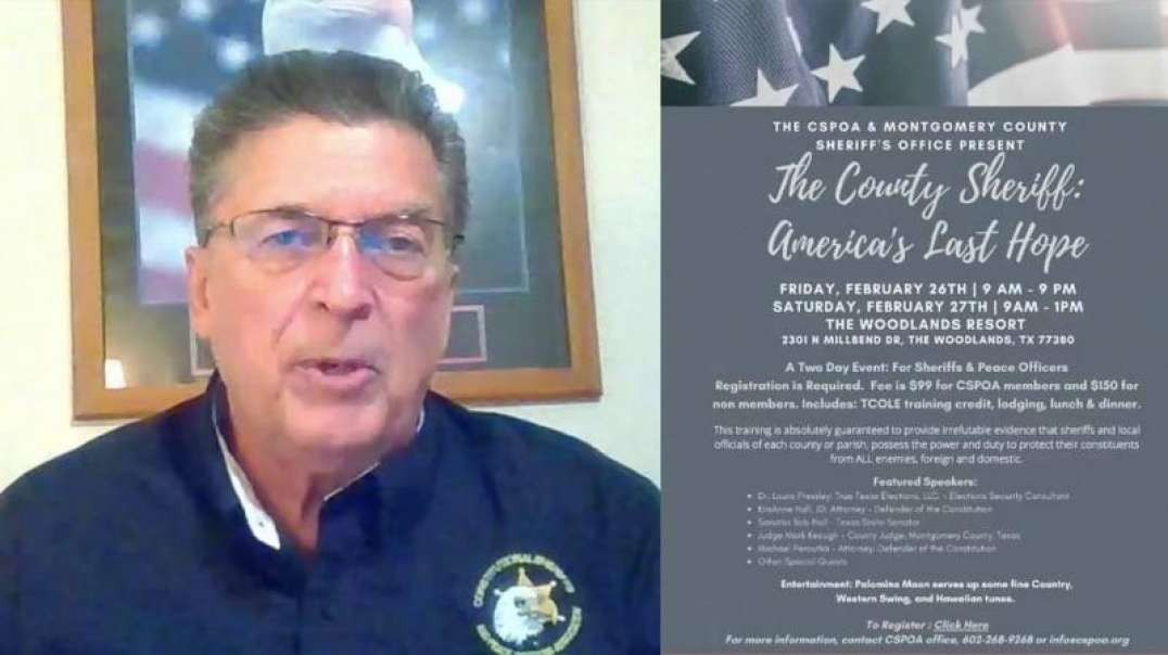 Sheriff Richard Mack Describes How Sheriffs Can Save Our Country