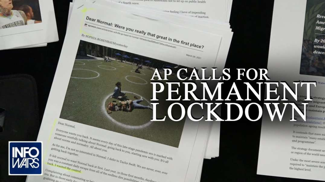 AP Calls for Permanent Lockdown in Dystopian Rant