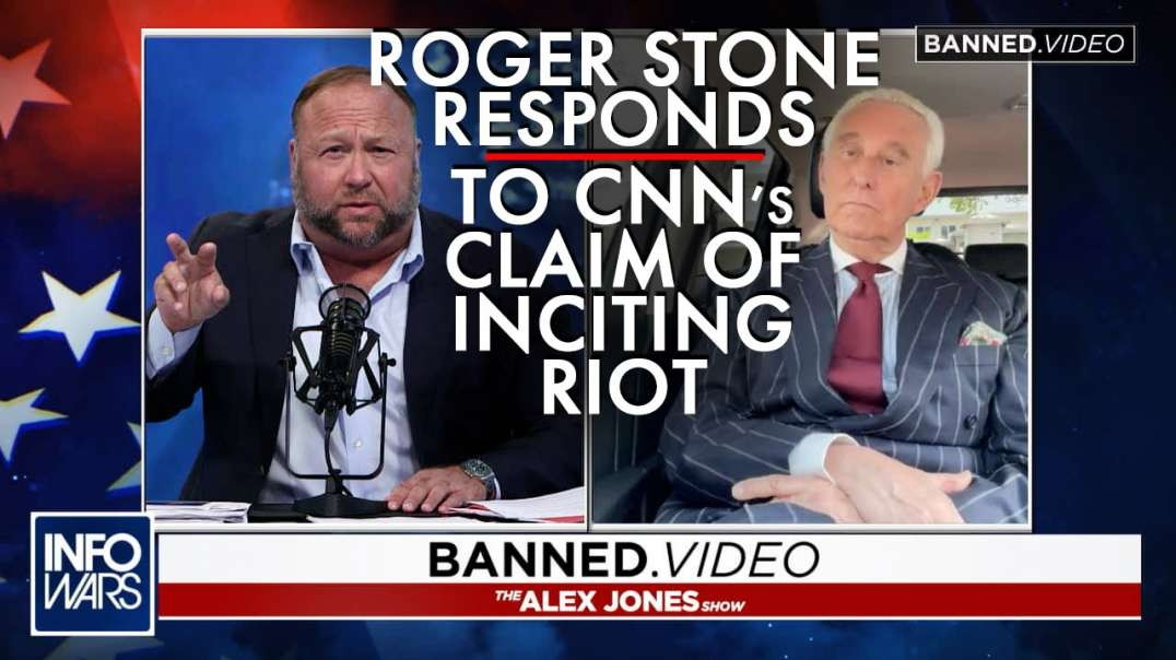 EXCLUSIVE- Roger Stone Responds to CNN's Baseless Claim of Inciting Capitol Riot