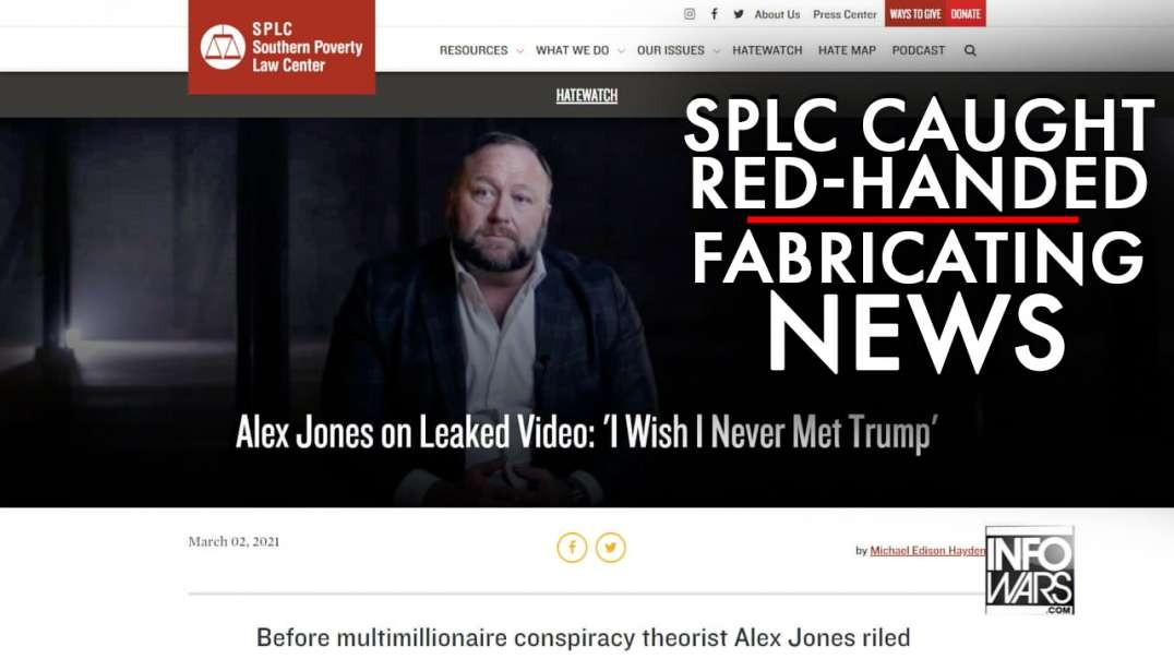 Watch SPLC Caught Red-Handed Fabricating News
