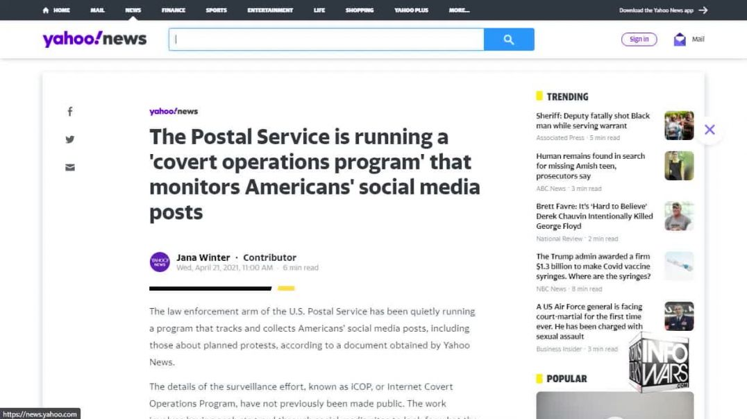 Post Office Admits to Illegally Spying on the American People