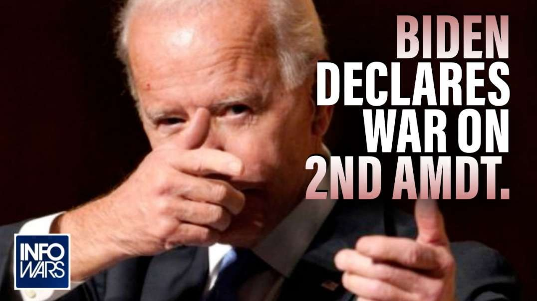 Video Press Conference- Biden Declares War on the Second Amendment