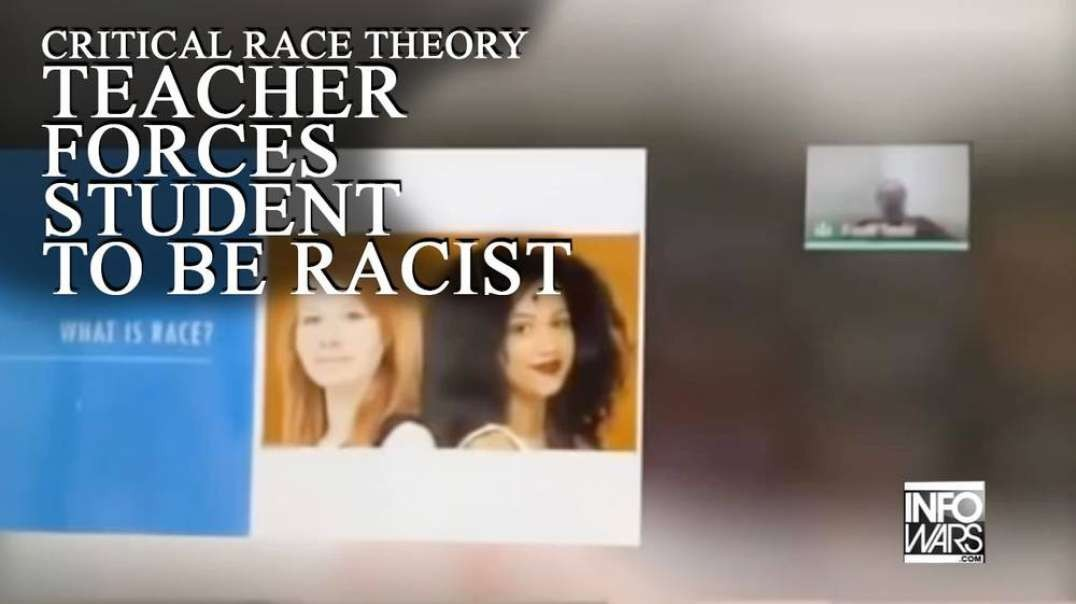 ⁣Shock Video: Critical Race Theory Teacher Forces Student To Be Racist