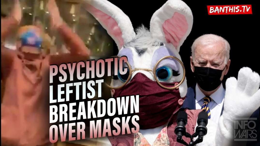 Psychotic Leftist Breaks Down Into Tears Over Masks On Elevator
