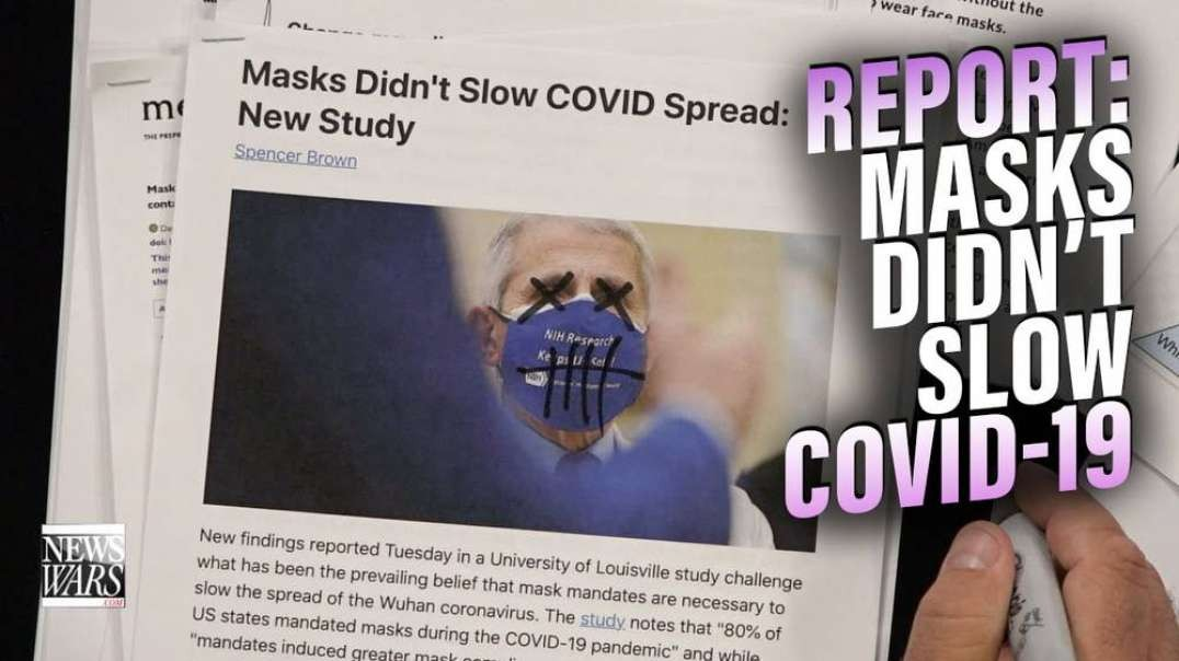 Rand Paul Calls Out Fauci as Study Finds Masks Didn't Slow Covid-19 Spread