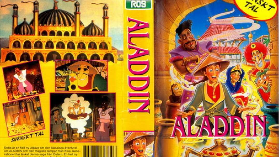 Tecknat Barn Svenska:Aladdin (1992 Video) VHSRIPPEN (Norska) Släpper Dig inte Nu (3D)