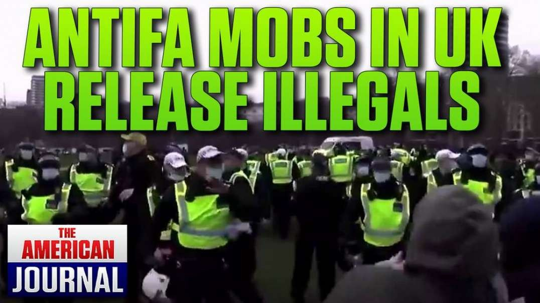 UK Leftists Force Police To Free Illegal Immigrants In Antifa Flash Mob