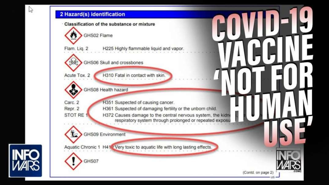 Covid Vaccine 'Not For Human Use'