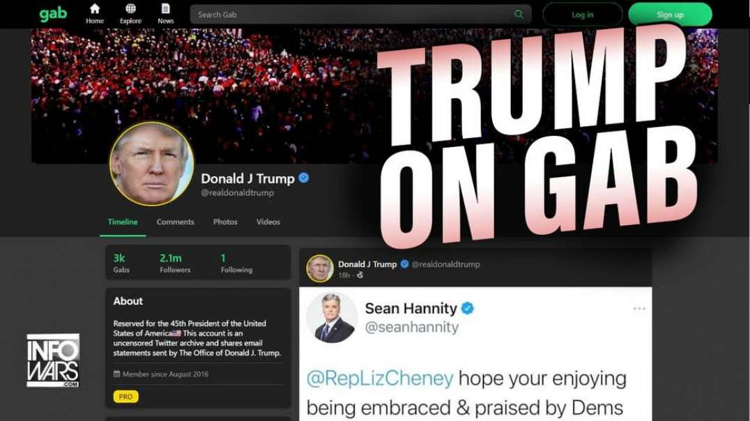 Trump is Getting as Much Engagement on Gab as His Own Platform