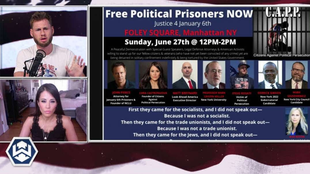 Massive Rally In New York City To Free Political Prisoners Form Corrupt Democrat Clutches