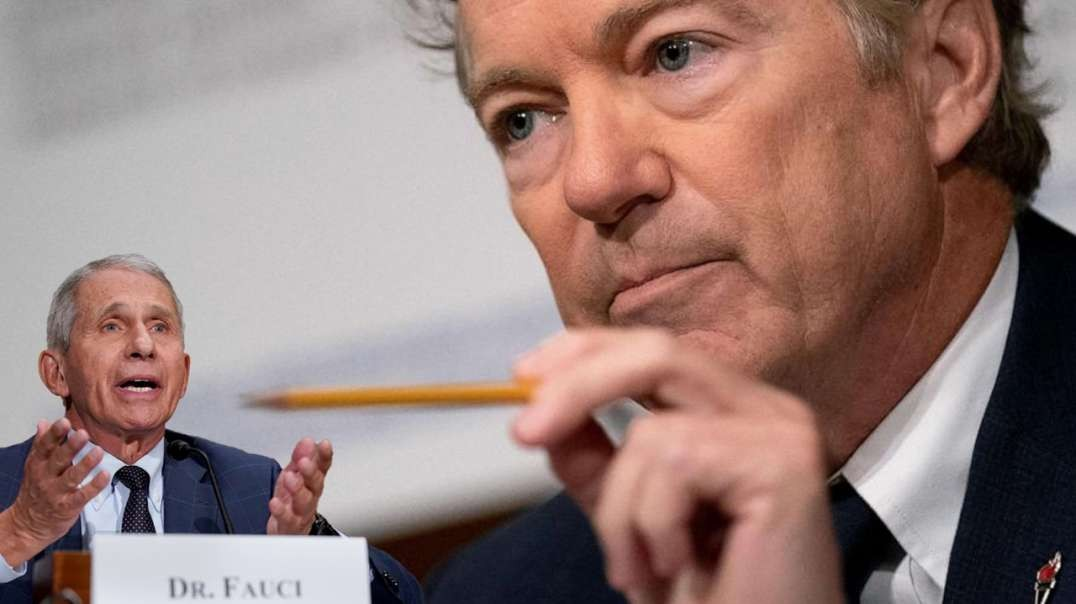 Anthony Fauci Shakes In Fear As Rand Paul Calls Him Out For Gain Of Research During Hearing