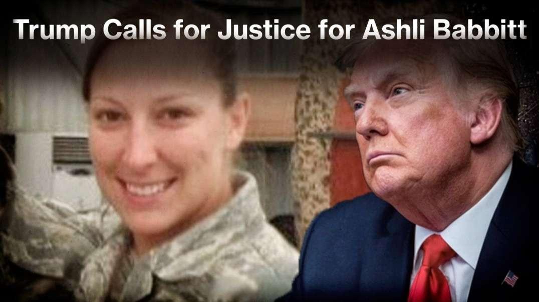 Donald Trump Makes Statement On Ashli Babbitt