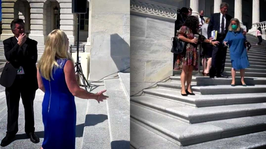 Marjorie Taylor Greene Gets Into It With Dems On Capitol Hill Step