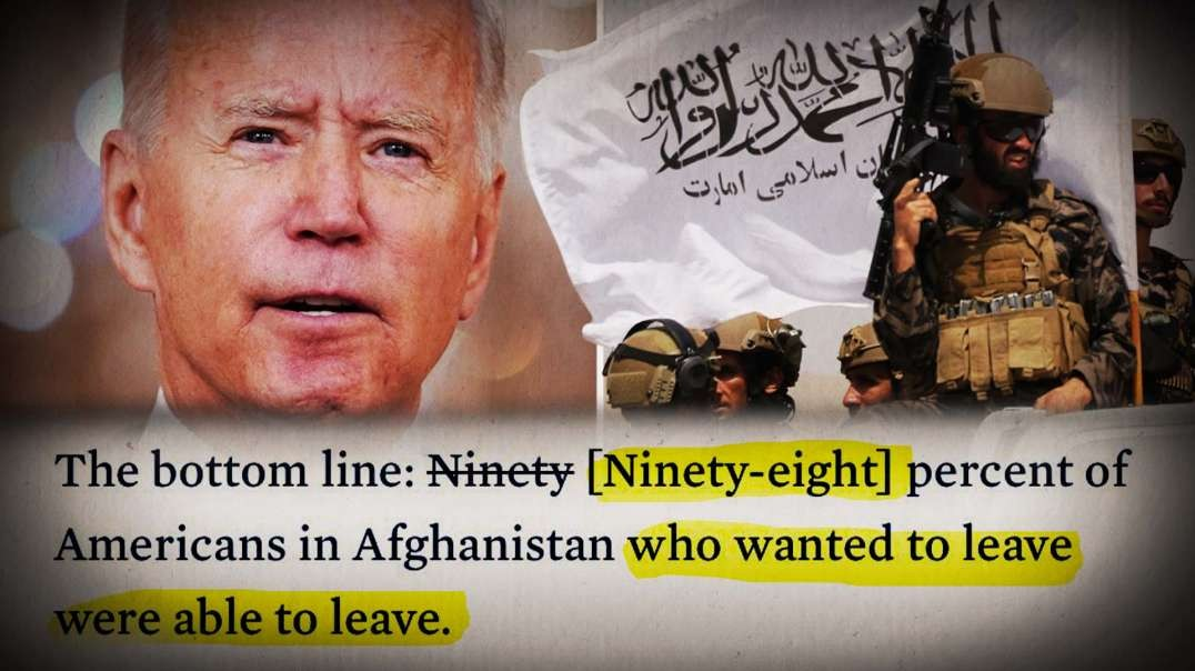 Biden Administrator Caught Lying AGAIN About Afghanistan