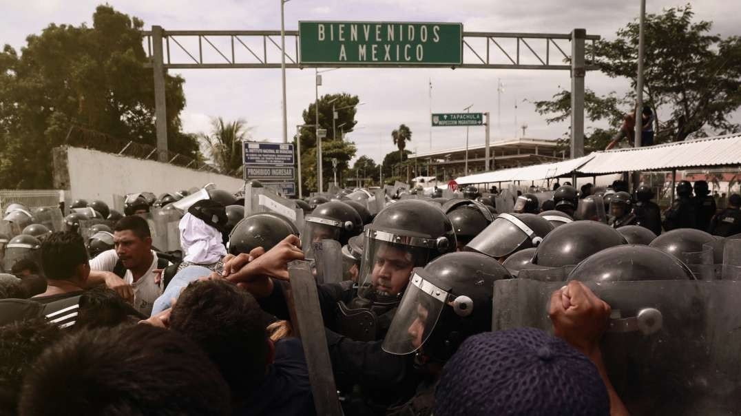 Massive Illegal Immigrant Caravan Skirmishes With Mexican National Guard On Way To U.S.
