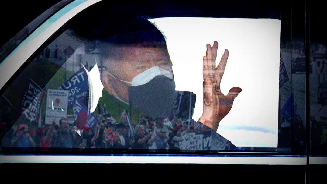 Thousands Of F*%# Joe Biden Flags Greet Presidential Motorcade In Michigan