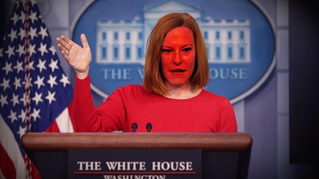 Furious Jen Psaki Storms Out of Press Conference Maskless