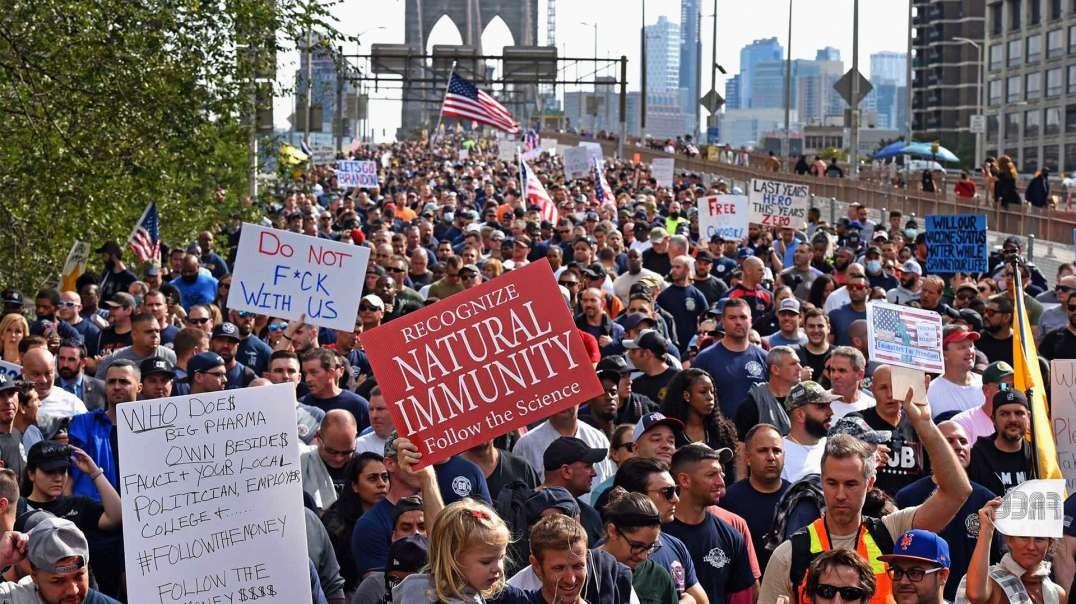 MEDIA BLACKOUT: Millions Protest Vaccine Mandates Worldwide